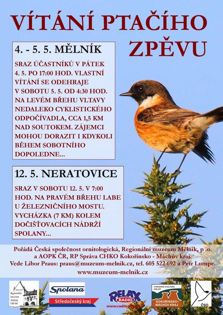 Vítání ptačího zpěvu Mělník