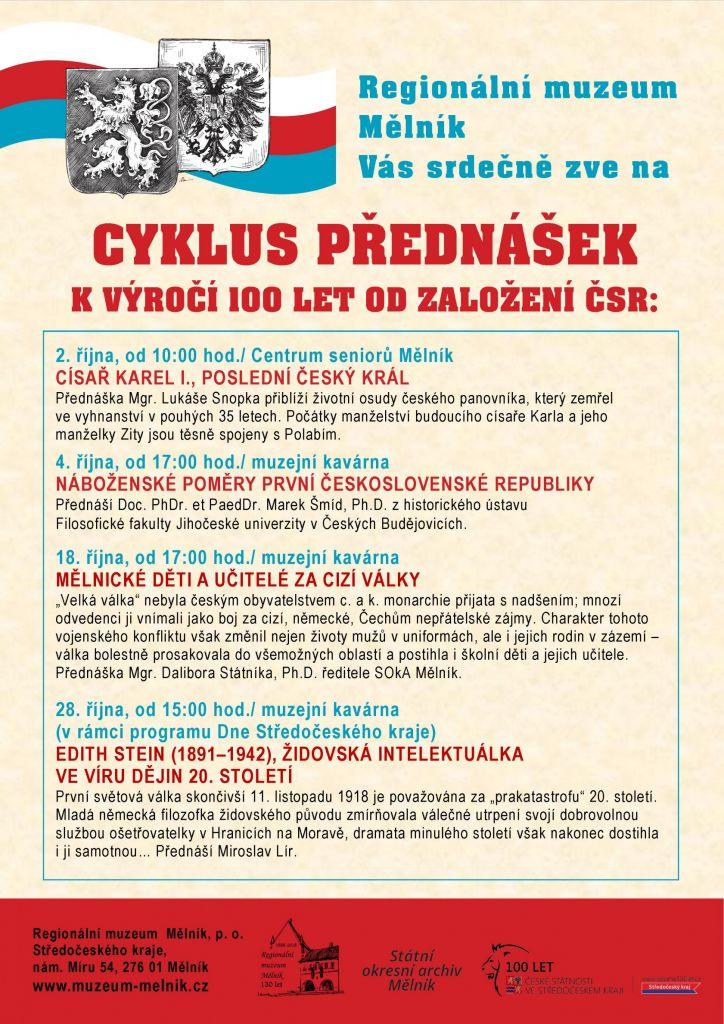 Cyklus přednášek k 100 let ČSR
